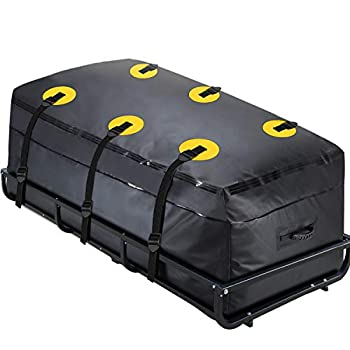 MODOKIT Cargo Carrier Bag 100% Waterproof 60 x24 x26   22 Cu Ft  Hitch Bag Include 6 Reinforced Straps Fits Car Truck SUV Vans with Basket Hitch Mount