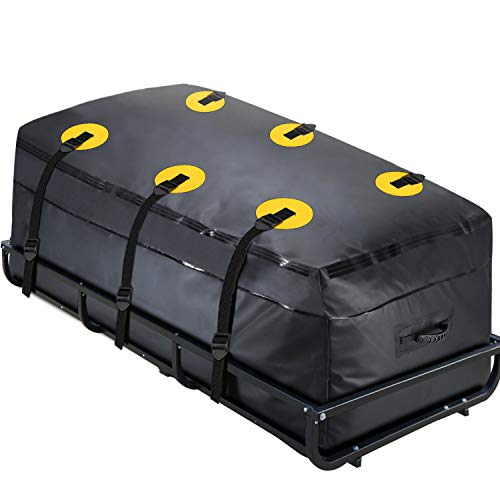 "MODOKIT Trailer Hitch Cargo Carrier Bag 100% Waterproof 60""x24""x26"" (22 Cu Ft) Fits Car Truck SUV Vans Cargo Carrier Hitch Rack"