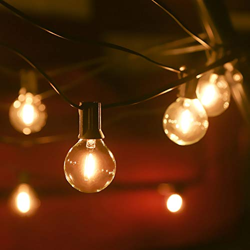 Outdoor String Lights Mains Powered 39FT G40 Bulbs Garden Hanging Festoon Lights,Tomshine IP45 Waterproof Indoor Outdoor Terrace Patio Outside Decoration Lights (25 Bulbs+ 3 Spare Bulbs)