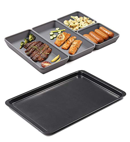 Sheet Pan, Silicone Sheets Pans Nonstick Bakeware for Cooking Oven Safe Baking Trays Easy Clean, Dishwasher Safe (5 Pack)