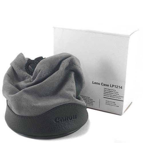 Canon LP1214 - Bolsa para Objetivo Canon EF 20-35mm f/3.5-4.5 USM (Cierre fácil), Negro, Gris
