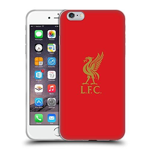 Head Case Designs sous Licence Officielle Liverpool Football Club Or Logo sur Rouge Liver Bird Coque en Gel Doux Compatible avec Apple iPhone 6 Plus/iPhone 6s Plus