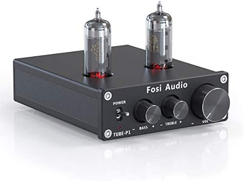 Fosi Audio P1 Tube Pre Amplifier Mini Hi Fi Stereo Buffer Preamp 6K4 Valve Vacuum Pre amp with product image