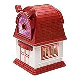 WSJTT Handkurbel Anspitzer Haus-Form, Schöne, legierter Stahl Messer, scharf und langlebig (Color : Red)