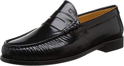 Florsheim Berkley 2, Herren Slipper & Mokassins - Schwarz - Noir (Black Brush Off) - 8