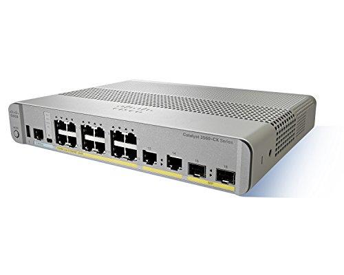 Cisco Catalyst WS-C3560CX-12TC-S gemanaged L3 Gigabit Ethernet (10/100/1000) Grau - Weiß Netzwerk-Switch, WS-C3560CX-12TC-S