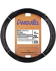 Anguila 12104020 - Guía pasacables Nylon Monofilamento, 20 m, Diámetro 4 mm, Negro