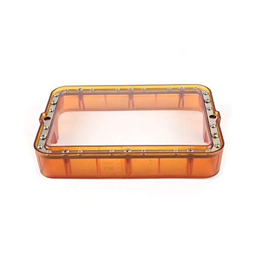 HUANRUOBAIHUO Material Rack Transparent Orange 178 * 120mm Plastic Resin Vat With 5pcs FEP Film For DLP SLA Photon Wanhao D7 3D Printer Steel 3D Printer Parts (Size : Only Resin Vat)
