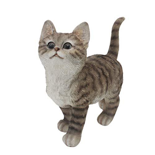 innodept12 CITONG Cat Statue Garden Ornament (Grey)