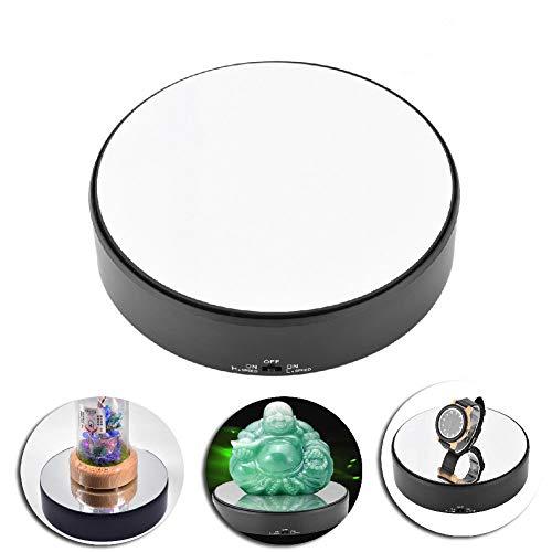 Giradischi motorizzato display, rotante, superficie a specchio 360 ° Rotary espositore regolabile girevole velocità giradischi portagioielli, gioielli, orologi, prodotti digitali, collezionismo
