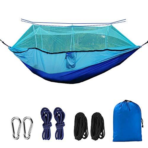 KSITH Outdoor Mosquito Net Hangmat, Draagbare Parachute Doek Ultra Licht Nylon Dubbele Camping Luchttent, Geschikt voor Backpacking Patios
