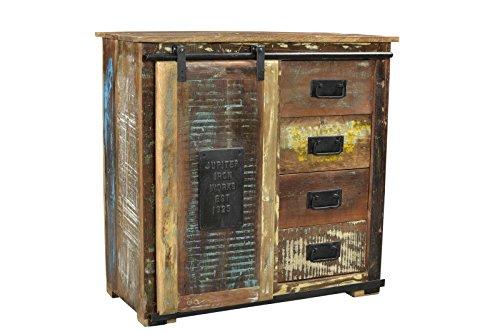 Sit Möbel Jupiter 11301-98 broodkast, bont gelakt, oud hout, naturel, 77 x 38 x 80 cm