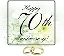 Happy 70th Anniversary: Guest Book. Free Layout Message Book For Family and Friends To Write in, Men, Women, Boys & Girls / Party, Home / Use Spaces ... size (Anniversary Guest Books) (Volume 43)