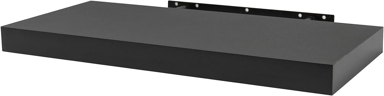 WOLTU Estantería Flotantes Negro Baldas 110cm Estante para Pared de Tablero de Madera RG9316sz
