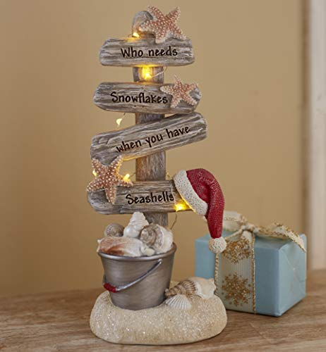 Lighted Christmas Tree with Beach Theme - Seas and Greetings