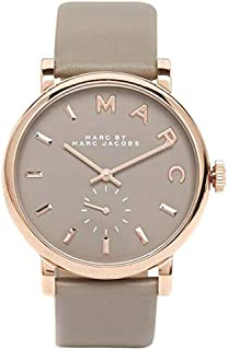 Marc Jacobs Womens Quartz Watch, Analog Display and Leather Strap MBM1266