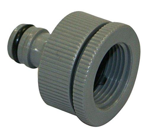 Xclou 346110 Schlauchanschluss für Wasserhahn - Schlauch Adapter mit Stecksystem Wasserschläuche, Grau, 4.5999999999999996x4x4 cm