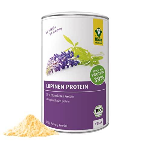 Raab Vitalfood Bio Lupinen Protein I Veganes Protein-Pulver mit 39{036dc8490aabd3be4ad2323b58995e82ba55669ec5dc367fff6dfe5dc977583e} pflanzlichem Eiweiß & allen 8 essentiellen Fettsäuren I Ideal für Protein-Shakes, Smoothies, Bowls & zum Backen I Made in Germany