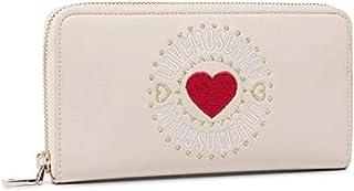 Portafoglio donna con zip around e cuore ricamato cod.JC5618PP1ALQ - LOVE MOSCHINO (AVORIO)