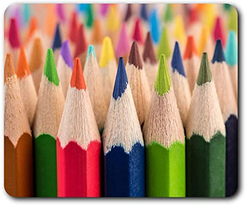 Bequeme Mausmatte - Coole Farbstifte Künstlerische Kunst Bleistift für Computer & Laptop, Büro, Geschenk, rutschfeste Basis - RM8698