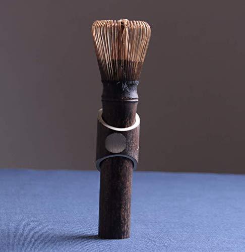 Toruiwa Matcha Besen Langer Griff Matcha Schneebesen Bambus Chasen Matcha Pulver Quirl Werkzeug 40 Borsten Japanische Teezeremonie Zubehör (Braun)