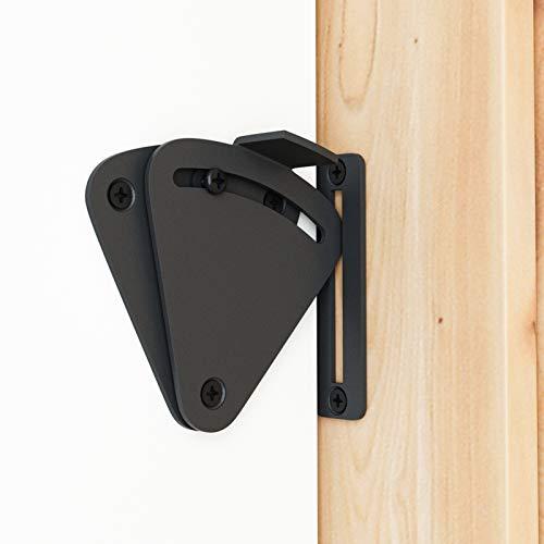 Product Image 1: SMARTSTANDARD Barn Door Large Size Latch Lock Black Privacy Latch Lock for Sliding Door Work for Pocket Doors Garage and Shed Wood Glass Gates