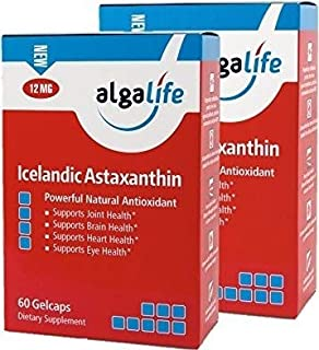 Algalife Pure Astaxanthin - Support Joint Pain & Eye Health, Made from Natural Icelandic Water, Super Powerful Antioxidant, 12 mg, 120 Soft Gels.