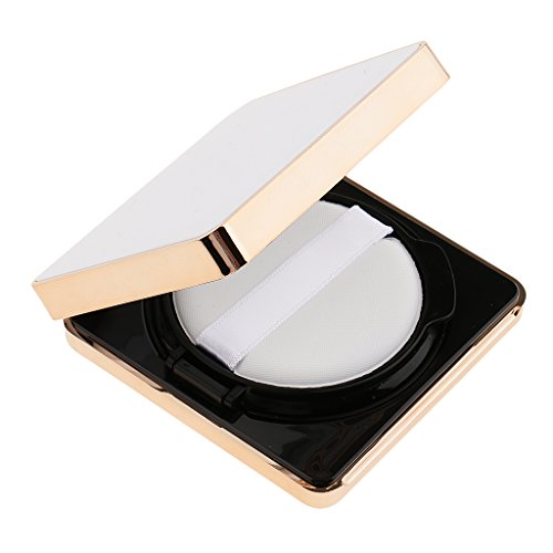 SM SunniMix Vide Miroir Luxueux Portable Portable Cushion Puff Box BB Crème Conteneur - Blanc