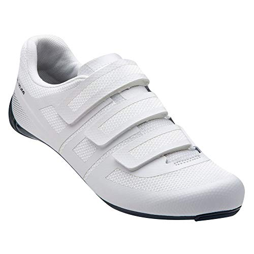 PEARL IZUMI Men's Quest Road Cycling Shoe, White/Navy, 39