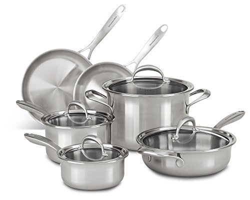 KitchenAid KC2CS10ST 5-ply Copper Core 10-Piece Set