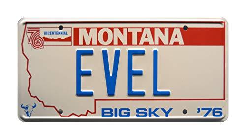 Celebrity Machines Viva Knievel '76 EVEL 'Kennzeichen, Metall, gestempelt