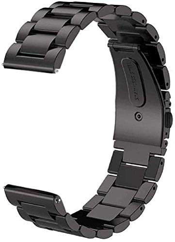 ProElite Stainless Steel Metal Business Bracelet Wrist Band Strap for Huawei Watch GT2 46mm (Silver)
