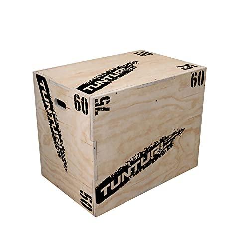 Tunturi Plyo Box, Plyoboxen in 50 x 60 x 75cm, Sprungbox aus Holz