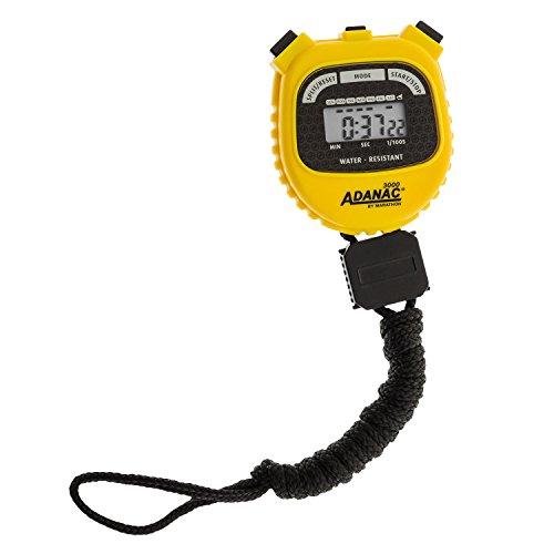 Marathon Adanac 3000Digital cronometro Sport con Extra Ampio Display e Tasti, Water Resistant- Giallo