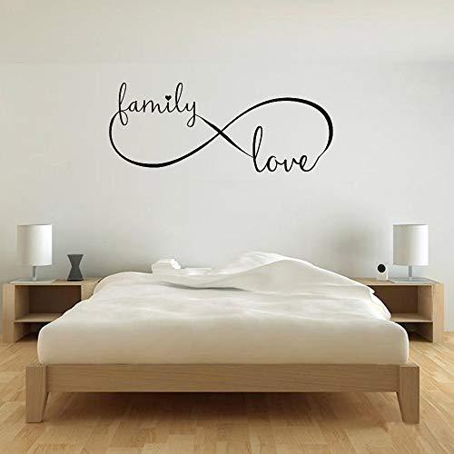 wanmeidp Infinity Family Love Decal Vinilo Adhesivo de Pared Retrato Arte de la Pared Matrimonio Dormitorio Papel Tapiz para Paredes en Rollos Mural 1 57x136 cm
