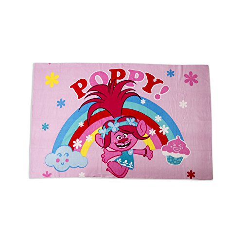 Trolls Dreams Manta de Forro Polar, diseño de Amapola Rosa súper Suave, Cualquier Dormitorio Infantil