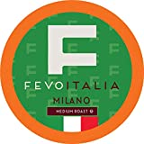 Fevo Italia Coffee Pods, Milano, Compatible with 2.0 K-Cup Brewers, 100 Count