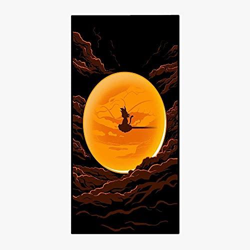 BZPKF Mikrofaser Strandtuch Damen Kinder Herren Mädchen Geschenk,Großes 80×160cm Dragon Ball Strandtuch mit Motiv,Schnelltrocknend Sandfreies Outdoor Handtuch,Individualität Badetuch Strandtücher