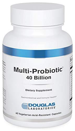 Douglas Laboratories Multi-Probiotic 40 Billion | Provides Probiotics and Prebiotics to Support Gut Microflora and Immunity* | 60 Vegetarian Acid-Resistant Capsules