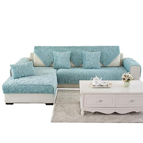 Ginsenget Fundas de sofá Forma sofá elástico elástico Funda de sofá,Fundas de sillón,Cojín de sofá de Franela 111,Verde,110 * 210cm