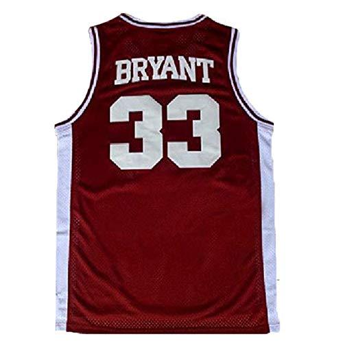 Men's Kobe Jersey 33 Legend Jerseys Retro Basketball Bryant Jersey Red(S-XXL) (XXL)