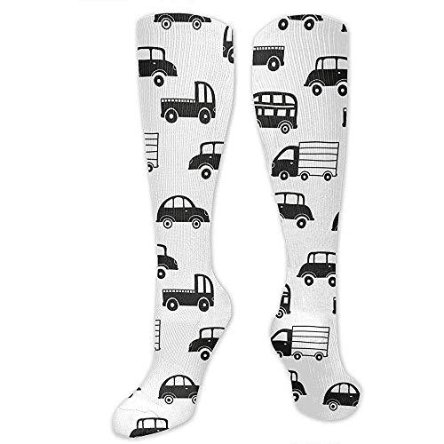 Zome Lag herensokken, steunkousen, reiskousen, kniehoog, teteam, tube sokken, kniekousen, zwart-wit-auto's, cosplay sokken, vrouwen feestdagssokken, man-tienersokken