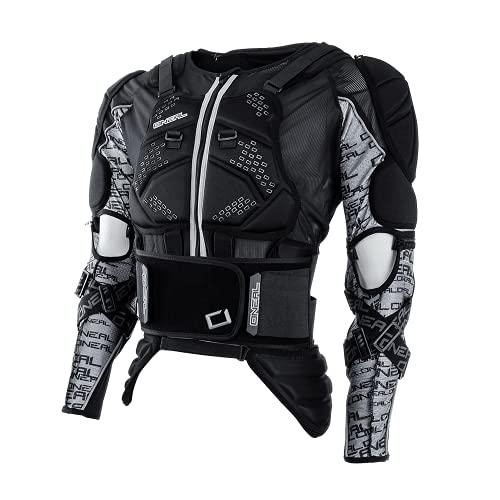 O\'NEAL | Protektoren-Jacke | Motocross Enduro | Rückenprotektor mit IPX® Schaum, elastischer Nierengurt, Umfangreiche Mesh-Belüftung | MADASS Moveo Protector Jacke | Erwachsene | Schwarz | Größe S