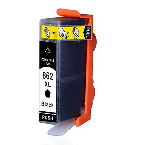 TEZAI Negro es Adecuado para el Cartucho de Tinta HP862 862BK Cartucho de Tinta C410D B110A B210A Cartucho de Tinta HP5510 HP6510 B210 D5468 Cartucho de Tinta HP7510 B8558