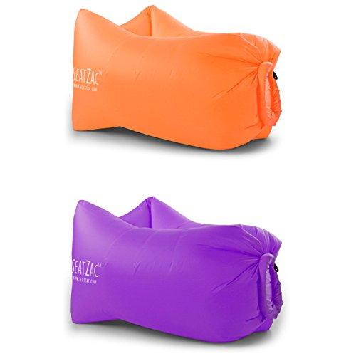 Set Seatzac 2 Stk Luftsofa Sitzsack Chillbag Doppelpack Loungekissen Luftsack