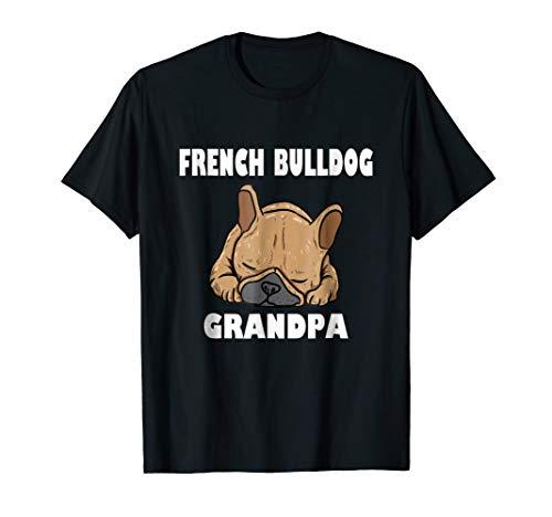 French Bulldog Grandpa Frenchie T-Shirt For Men