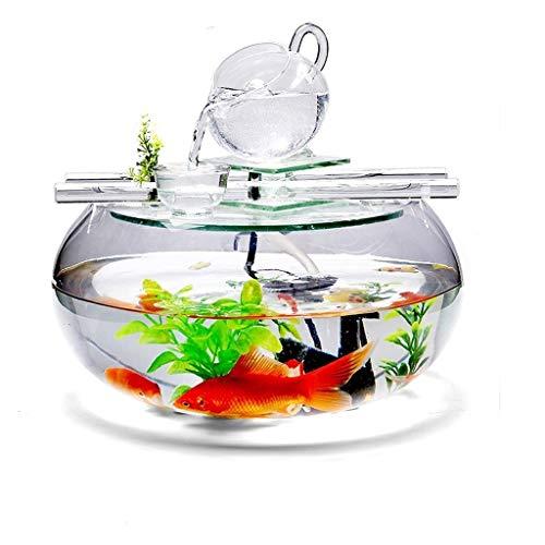 Liefde lamp Water Fontein Vis Tank Thuis TV Kast Decoratie Creatieve Desktop Kleine Feng Shui Decoratie Lucky Woonkamer