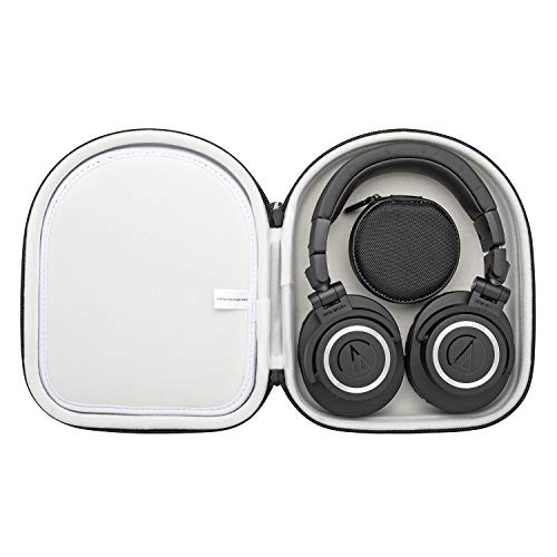 Audio-Technica ATH-M50X Professional Monitor Headphones with Knox Protective Headphone Case Bundle (2 Items)