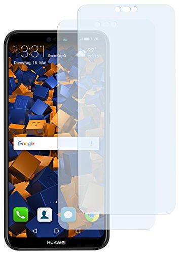mumbi Schutzfolie kompatibel mit Huawei P20 Lite Folie klar, Displayschutzfolie (2X)