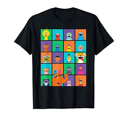 Sesame Street Character Squares T-Shirt